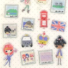 GB trippers stickers from Paperchase