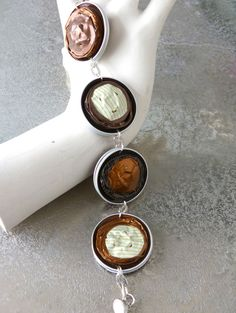 Armbänder - Recycling-Armband - ein Designerstück von allarART bei DaWanda