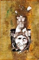 Villon illusztráció by EndreSzasz Skull, Abstract, Artwork, Artist, Hungary, Budapest, Paintings, Collection, Pintura