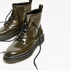 Image 5 of MILITARY FLAT ANKLE BOOTS from Zara