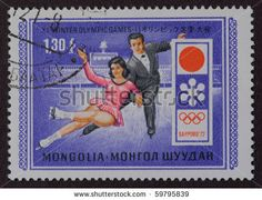 Mongolia Stamp - Winter Olympic Sapporo '72
