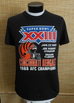 Vintage 80s Cincinnati Bengals T-shirt, 1989 Superbowl XXIII NFL Crewneck Tee, Officially Licensed, Unisex Tee