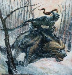 Infected By Art » Warg Rider by rick price » Infected By Art Book - Volume 3 Contest