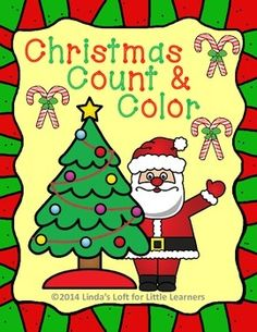 These Christmas Count and Color Printables are a set of 10 counting and coloring pages for numbers 1-10. Each page has corresponding holiday themed pictures that children will love to color at a center, independently, or as a small group activity. Click Preview to see the entire 10 pages.