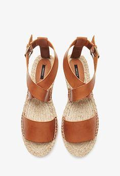 Faux leather espadrille sandals | theglitterguide.com