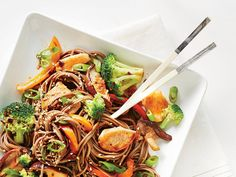 Learn how to make Soba Noodle Salad with Chicken and Broccoli . MyRecipes has 70,000+ tested recipes and videos to help you be a better cook