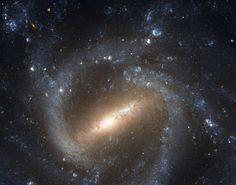 Many spiral galaxies have bars across their centers. Even our own Milky Way Galaxy is thought to have a modest central bar. Prominently barred spiral galaxy NGC 1073, pictured above, was captured in spectacular detail in this recently released image taken by the orbiting Hubble Space Telescope.