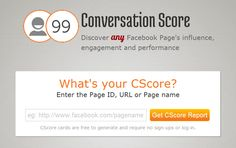 Conversation Score  Discover any Facebook Page's influence, engagement and performance