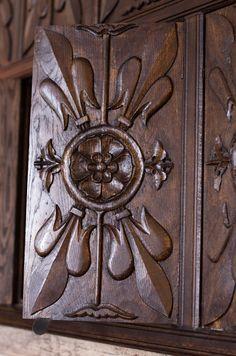 A beautiful Tudor era panel at Sutton House in Hackney