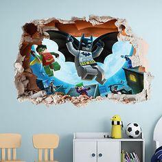 D Lego Batman Wall Decal Great For The Kids Room By ArtogText On - Superhero wall decalsbestcity wall stickers ideas on pinterest batman stickers