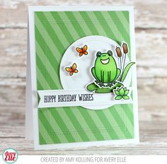 Hello! Amy and Maska are on the blog today. Check out their great projects! This first card by Amy is so cute. The green patterned ...
