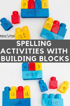 Spelling activities with building blocks