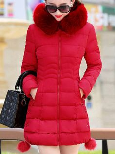 4892306a6f Hooded Zips Pocket Quilted Plain Padded Coat Cardigan Fashion
