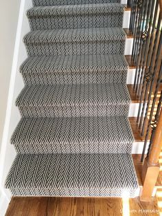 Shaw Floors Carpet Runner As part of my partnership with Shaw Floors, they allowed us to get a new runner for our new house for the staircase. We had a certain amount of flooring given to us since I Basement Carpet, Hall Carpet, Diy Carpet, Rugs On Carpet, Carpet Ideas, Modern Carpet, Cheap Carpet, Carpets, White Carpet