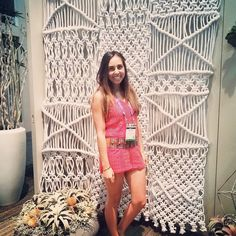 Christina is camera ready in front of our macrame panel! . . . . . . #stepandrepeat #hdexpo #hdexpo2017 #macrame #interiordesign #hospitalitydesign #hotel #casino #resort #design #strikeapose #lasvegas #lastday @jcmglobalfurnishings #jcmglobal