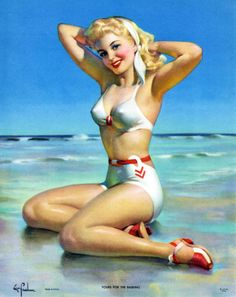 """Yours For the Basking"" by Art Frahm (1940's) 
