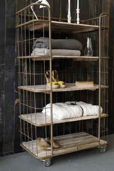 Factory Bindery Shelving Unit - would love this in just about any room!