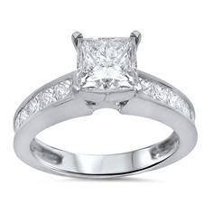 Noori 14k Gold 1 3/ ct TDW Princess Clarity Enhanced Diamond Ring