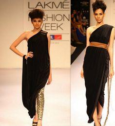 Nikhil Thampi 2012  similar to the tebenna/ himation/ draped around and hangs in back