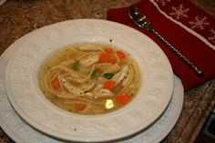Prudence Pennywise: Classic Chicken Noodle Soup in the Slow Cooker
