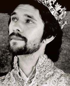 "The BBC series ""The Hollow Crown"" includes a beautiful film adaptation of Shakespeare's play. Here is Ben Whishaw as King Richard II!"