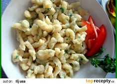 Špecle, noky, Spaetzle recept - TopRecepty.cz Czech Recipes, Ethnic Recipes, Snack Recipes, Healthy Recipes, Gnocchi, Dumplings, Pasta Salad, Macaroni And Cheese, Side Dishes