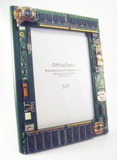 Techie picture frame. Unique gift for men. Recycled by OfficeDeco