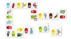 Dominó - szelektív hulladékgyűjtés - Lottók, dominók, párosítók - Óvodai eszközök szakértője - minőség, kedvező ár