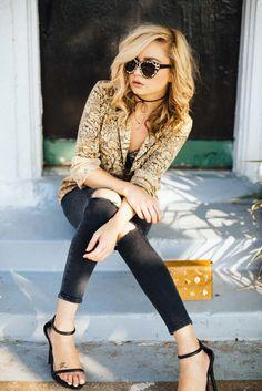 Topshop Silk Pajama Top - Dallastyle Blog