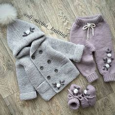 50 New Knitting Patterns You Never Seen Baby Boy Knitting Patterns, Baby Cardigan Knitting Pattern, Knitting For Kids, Knitted Baby Clothes, Crochet Baby Hats, Crochet Clothes, Baby Cocoon Pattern, Cardigan Bebe, Baby Sewing Projects