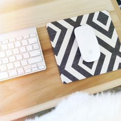 sarah m. dorsey designs: DIY in 1 hour or Less | Fabric Mousepad