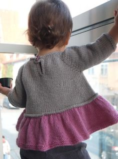 """Tutu Top """"Ravelry: Tutu Top pattern by Lisa Chemery 3 months to 8 years."""", """"Sweet and simple and super-swingy… The idea was to give that gauzy, """"tutu"""" f Baby Knitting Patterns, Knitting For Kids, Baby Patterns, Knitting Projects, Knitting Ideas, Knitting Stitches, Knitting Needles, Tutu Top, Baby Dresses"""
