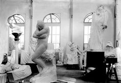 """artifakts: """"Auguste Rodin's studio with several works including Eve and a large sculpture of Honoré de Balzac (at center right). Auguste Rodin, Rainer Maria, Blue Lantern, French Sculptor, Modern Sculpture, French Artists, Art Studios, Artist At Work, Great Artists"""