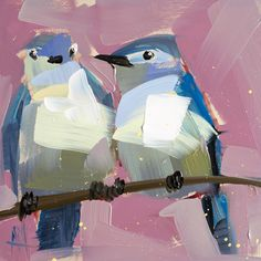 Two Mountain Bluebirds no. 8 by Angela Moulton | Artfully Walls