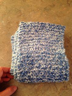 Blue/white infinity scarf