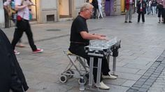 Street Performer Playing Classics on Water Glasses HD on Vimeo