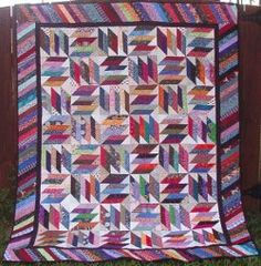 Weed Whacker Bed Quilt | FaveQuilts.com