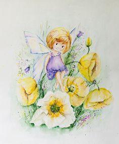Princess Fairies Wall Art Flower Fairies Art birthday by PDisanska