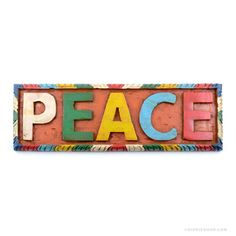Peace Painted Wooden Wall Art