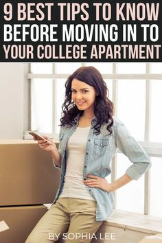 college apartment tips that are super helpful for those that are moving out of their dorms and into their first apartment
