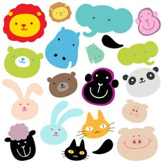 baby animal designs for cake, cupcake and cookie tops