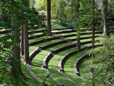 Swarthmore College's amphitheater.