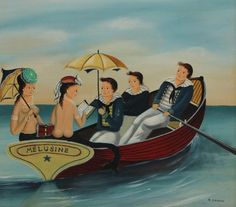Buy online, view images and see past prices for Ralph Eugene Cahoon, Jr. Invaluable is the world's largest marketplace for art, antiques, and collectibles. Value In Art, Sea Art, Merfolk, Interesting Faces, Paintings For Sale, Folk Art, Sailor, Jr, Mermaids