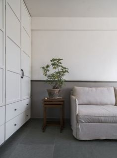 Apartment Design With Concept Of Wabi-Sabi, Simple And Close To Nature | Amoeba Design - The Architects Diary