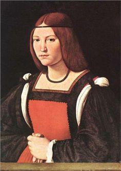 1495 Florentine Women's Italian Renaissance Ensemble by Baroness Briana Etain MacKorkhill (Picture: Portrait of a Young Woman - Giovanni Antonio Boltraffio, late 15c. - early 16 c.)