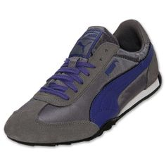Women's Puma 76 Runner Nylon Casual Shoes  FinishLine.com   Dark Grey/Purple