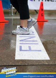 Asphalt Art was used as the finish line for the #BiggestLoser Run/Walk