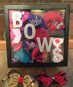 Shadow box of bows!!