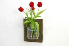 Wandvase Altholz Vase Upcycling Blumen Pflanzen von SchlueterKunstundDesign - Wohnzubehör, Unikate, Treibholzobjekte, Modeschmuck aus Treibholz auf DaWanda.com