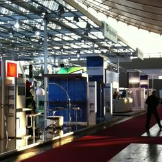 The sun rises over the Fraunhofer booth #Cebit